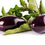 Photo de deux aubergines bon pour la santé